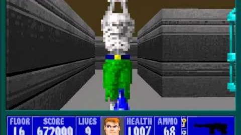 Spear Of Destiny 3 - Ultimate Challange - Floor 18 (Lower Bunker Area Boss - Übermutant)