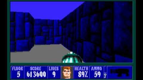 Wolfenstein 3D (id Software) (1992) Episode 2 - Operation Eisenfaust - Floor 5 HD