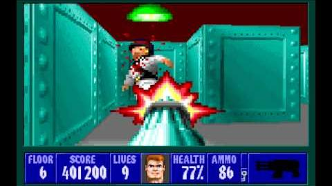 Wolfenstein 3D (id Software) (1992) Episode 3 - Die, Fuhrer, Die! - Floor 6 HD