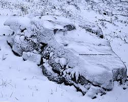 Whispering rock in snow