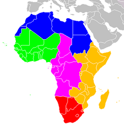 Africa UN map