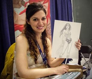 Jenny Frison with WW art