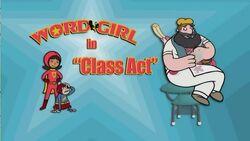 Class Act titlecard