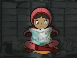 File:WordGirl reads Paradise Alley book.jpg