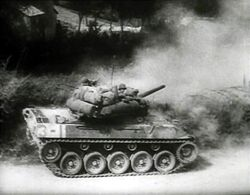 M18 Hellcat fires on the move, Italy, Circa 1943-44