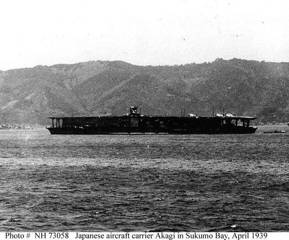 File:IJN Aircraft Carrier Akagi in Sukumo Bay, 1939.jpg