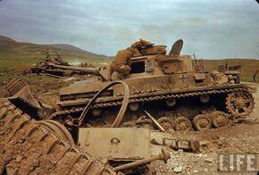 Knocked out German Armor, El Guettar 1943