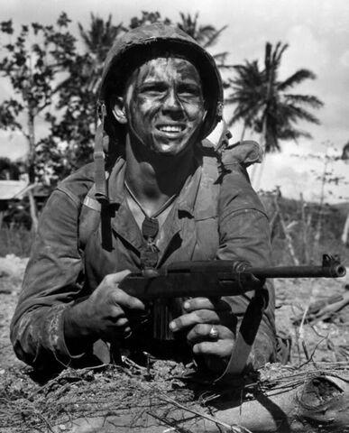 File:US Marine with an M1 Carbine, Mariana Islands, July 1, 1944.jpg