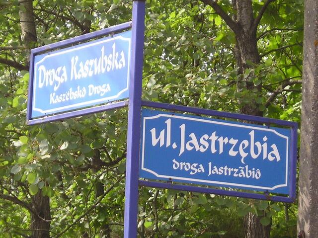 File:Ostrzyce-nazwa ulicy.JPG