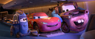 Cars 2 Lightning and Mater in airplane