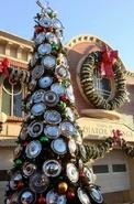 Cars Land Hubcap Christmas Tree
