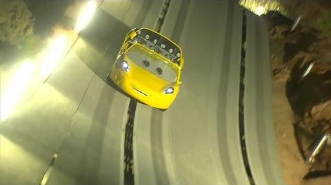 Radiator Springs Racers testing in Cars Land at Disney California Adventure