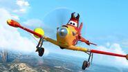 Dusty flying while painted like Air Devil Jones
