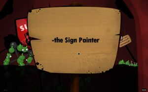 Sign Painter sign