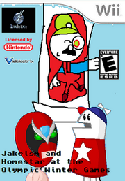 Jakelsm and Homestar at the Olympic Winter Games