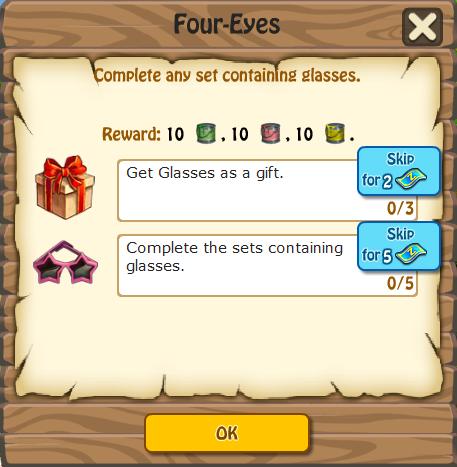 Four-Eyes, Task