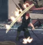 Kizaki Raygust Shield anime