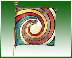 Aes Sedai flag ajah-green