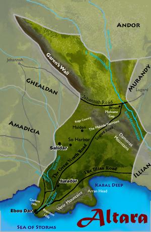 Large altara map