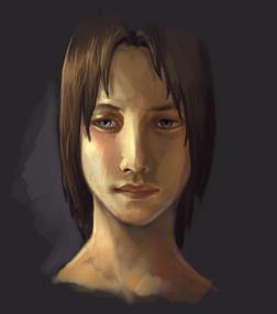 Portrait of a young boy by Rhynn