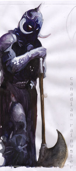 The Purple Knight by canadian rainwater