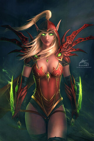 Datei:Warcraft valeera sanguinar by raikoart.jpg