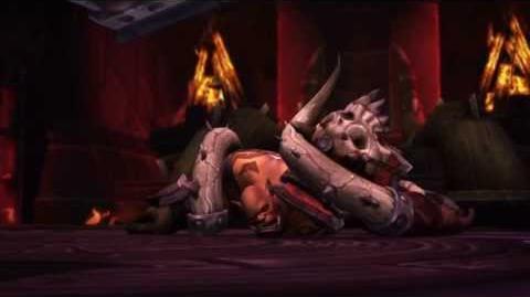 "Horde version - Garrosh Hellscream's ""death"""
