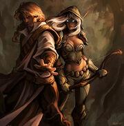 Vereesa and rhonin by ladyavali-d3bohk4