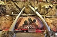 Skin painting inside orc tent