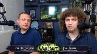 Legion Live Developer Q&A w Ion Hazzikostas