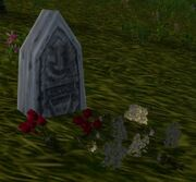 Decorated Headstone