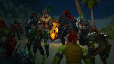 Rise of the Zandalari cinematic troll mtg