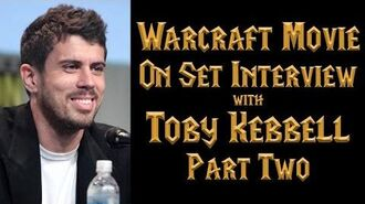 Toby Kebbell (Durotan) Warcraft Movie On-Set Interview - Part 2