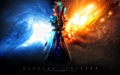 Mage skulls dragons world of warcraft wow frost fire magic undead pvp desktop 1920x1200 wallpaper-449095