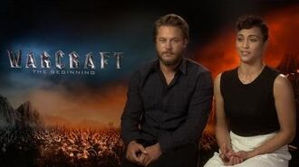 Paula Patton & Travis Fimmel on getting into the roles on Warcraft The Beginning