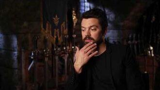 "Warcraft Dominic Cooper ""King Llane"" Behind the Scenes Movie Interview"
