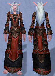 Deadly Gladiator's Mooncloth Robe, Snow Background, NE Female