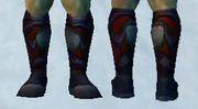 Sandals of Crimson Fury, Snow Background, Human Male