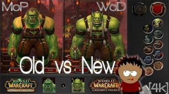 WoW - Character Comparison - Old vs New 4K