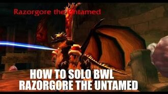 WoW How To Solo Blackwing Lair RAZORGORE THE UNTAMED (First Boss BWL)