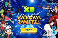 Villains Unite Title Screen