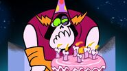 S1e9b Lord Hater getting his birthday cake