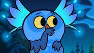 S1e12b Owl pretending to zip mouth shut