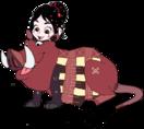Vanellope dressed as Pumbaa 3