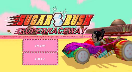 Sugar Rush Superraceway- main menu