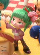 Minty Sakura waving