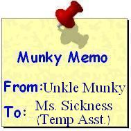Memo from munky to mms