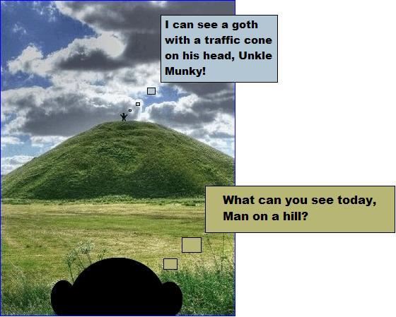 Man on a hill goth
