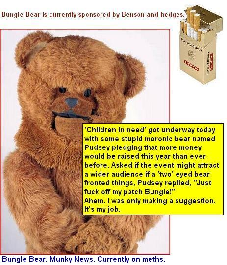 Bungle benson and hedges pudsey