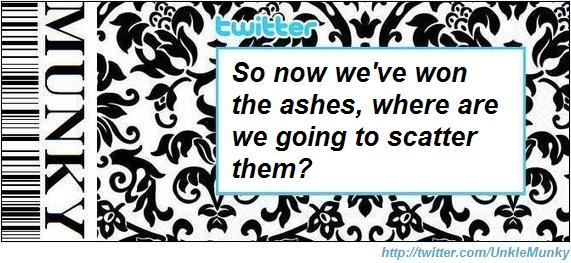 Twitter ashes